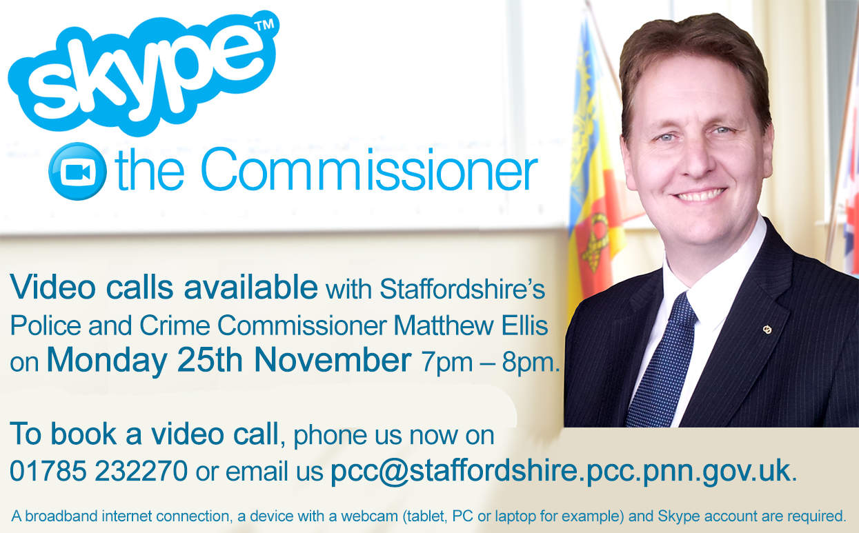 PCC hosts live web chat and Skype surgery - Staffordshire Commissioner